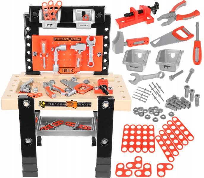 ISO 9420 Detská dielňa pre deti s náradím 65 dielov