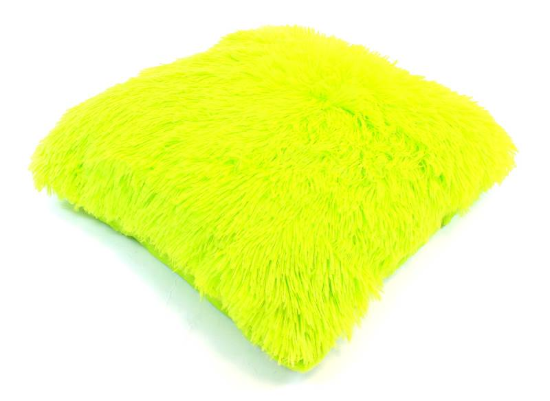 APT Plyšový chlupatý povlak na polštář 43 x 43 cm zelená