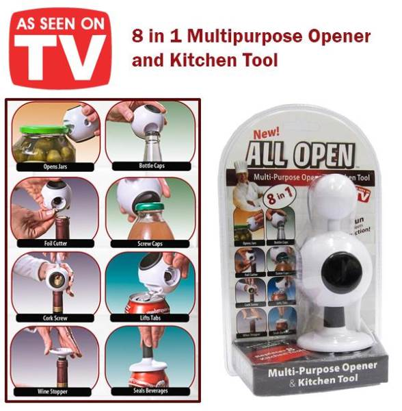 Verk Multifunkčný otvárač do kuchyne All Open 8v1