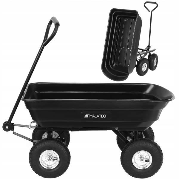 Malatec 9043 Záhradný prepravný vozík výklopný 350 Kg čierna