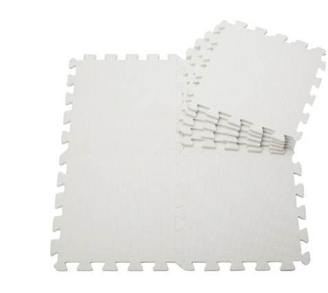 EVA Penový koberec 60 x 60 cm 1 ks biela