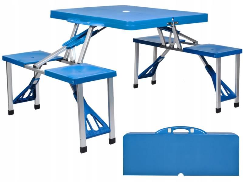 Malatec 7894 Kempingový skládací set modrá