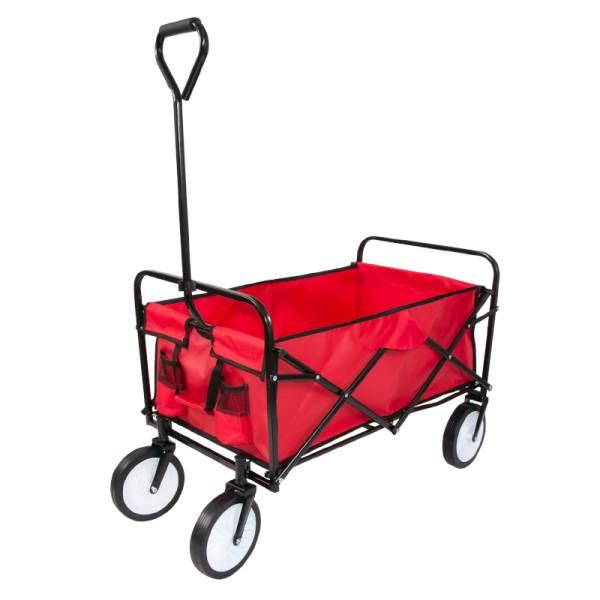 Carruzzo O4A Záhradný prepravný vozík skladací červený1