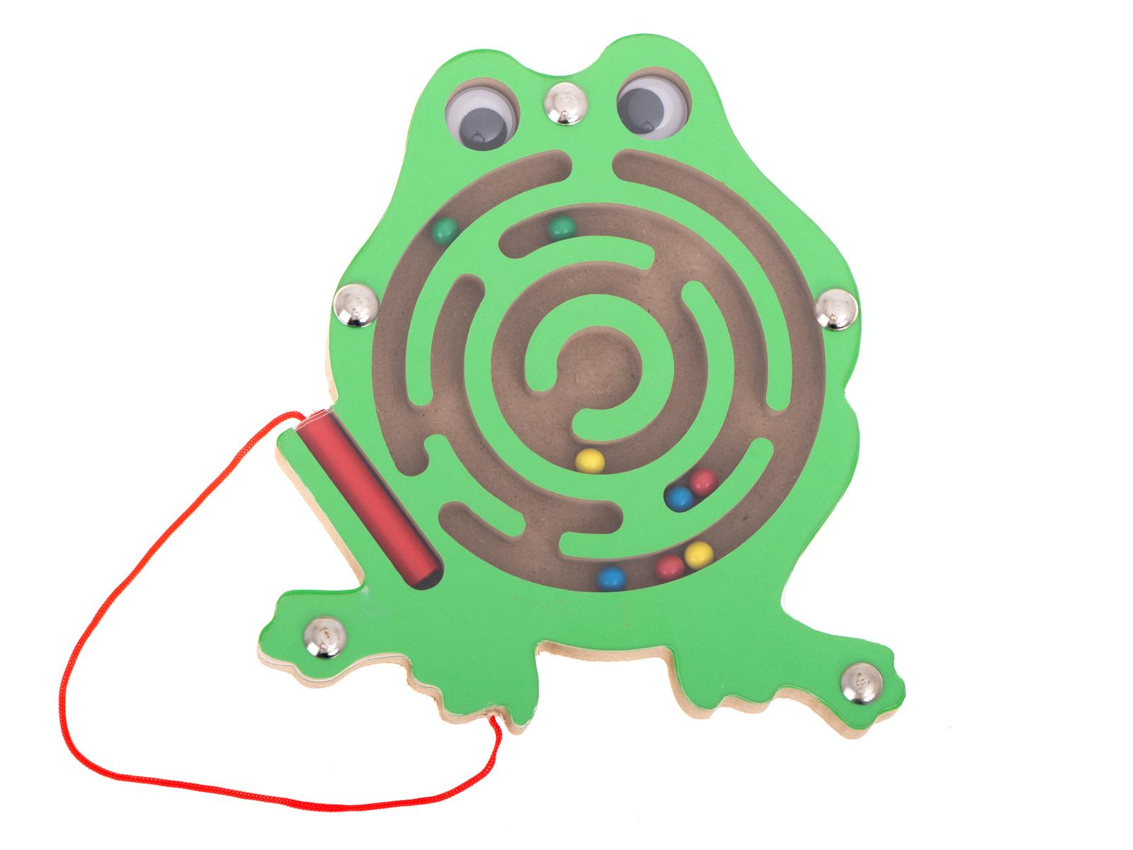 KIK Magnetický labyrint zvieratka žaba
