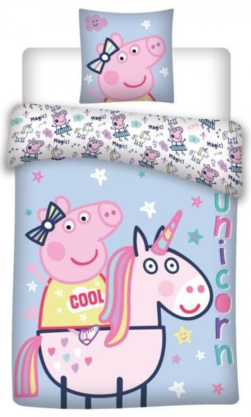 Javoli Detské bavlnené obliečky Peppa Pig 140 × 200cm, 70 × 80 cm II