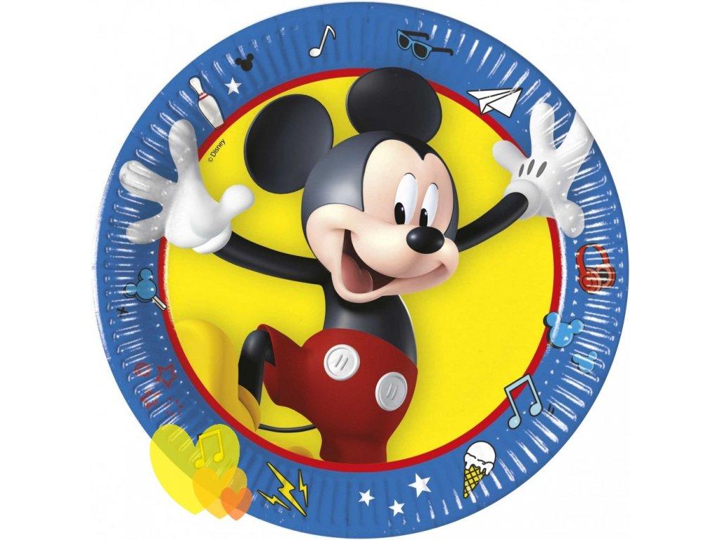 Javoli Papierové taniere Disney Mickey 19,5 cm - 8 ks II