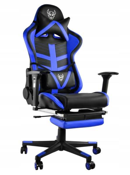 Malatec 6426 Herní židle černo modrá3