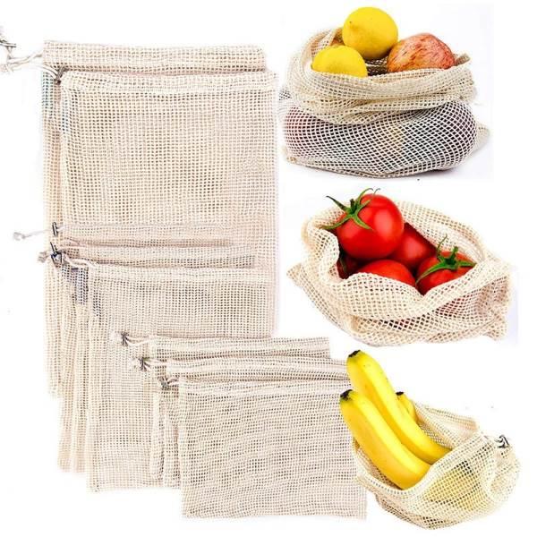 KIK Sieťový sáčok na ovocie a zeleninu 30 x 35 cm