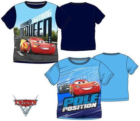 Javoli Detské tričko krátky rukáv Disney Cars veľ. 104 svetlo modré