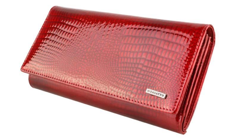 ZAGATTO Kožená peněženka dámská červená RFID II