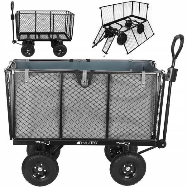 Malatec 9039 Zahradní vozík s výklopnými boky nosnost 350 Kg