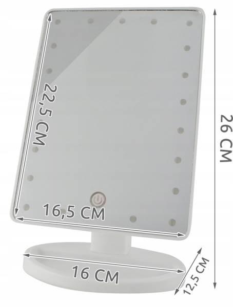 ISO 5886 Kosmetické zrcátko 16 LED3