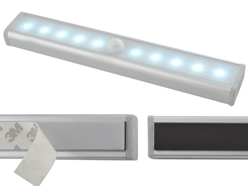 ISO LED osvetlenie s pohybovým senzorom 10LED, 4x AAA