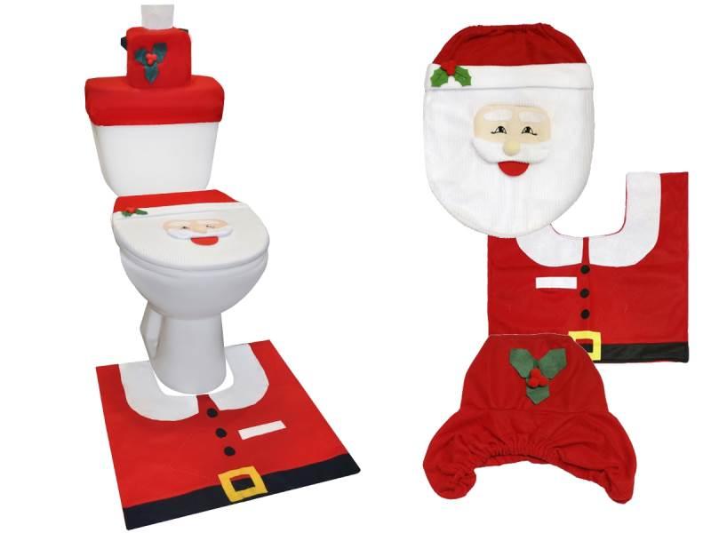 Vánoční potah na toaletu Santa Claus1