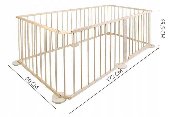 Malatec 8178 Drevená ohrádka borovica 6 panelov XL2
