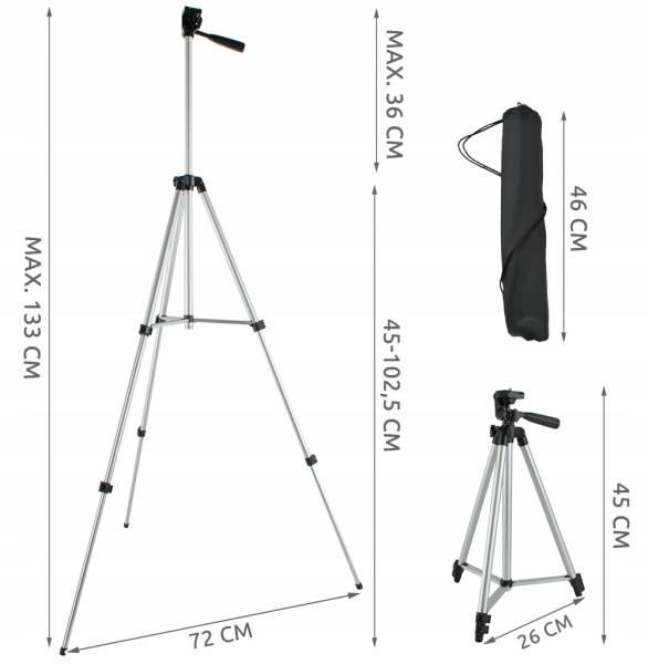 ISO 6067 Hliníkový stativ 133 cm s bluetooth ovladačem12