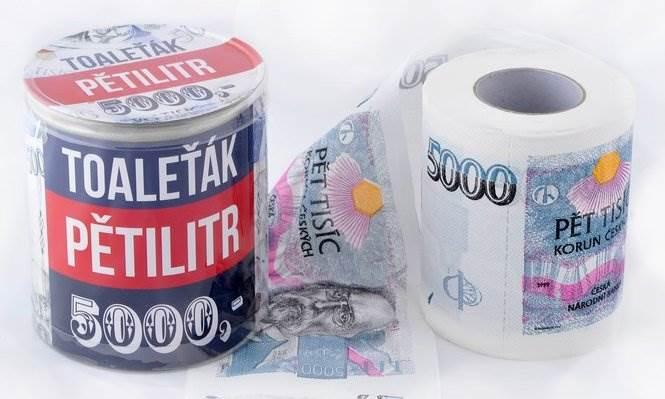 GFT Toaletný papier pětitisícovka