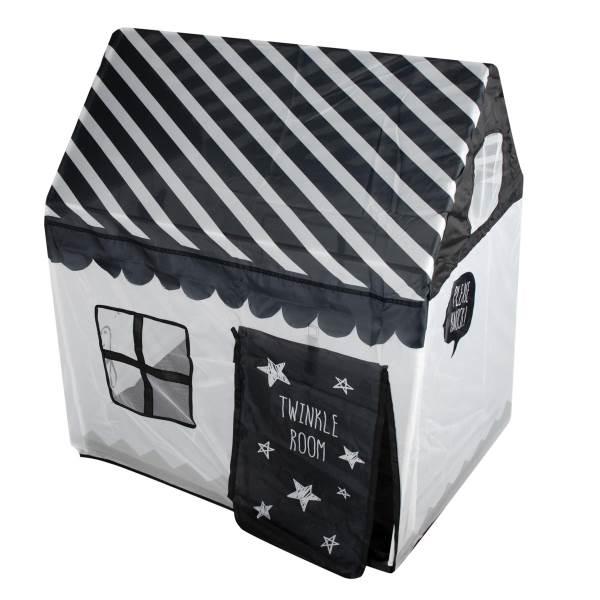 KIK KX7932 Detský textilný domček čiernobiela2