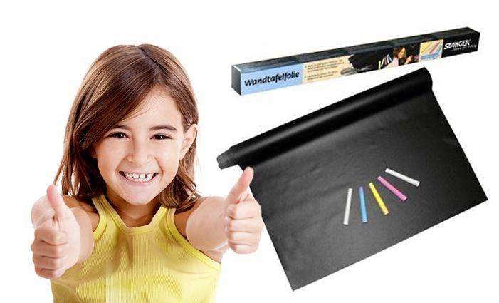ISO 1086 Samolepicí papírová tabule na křídy + křídy