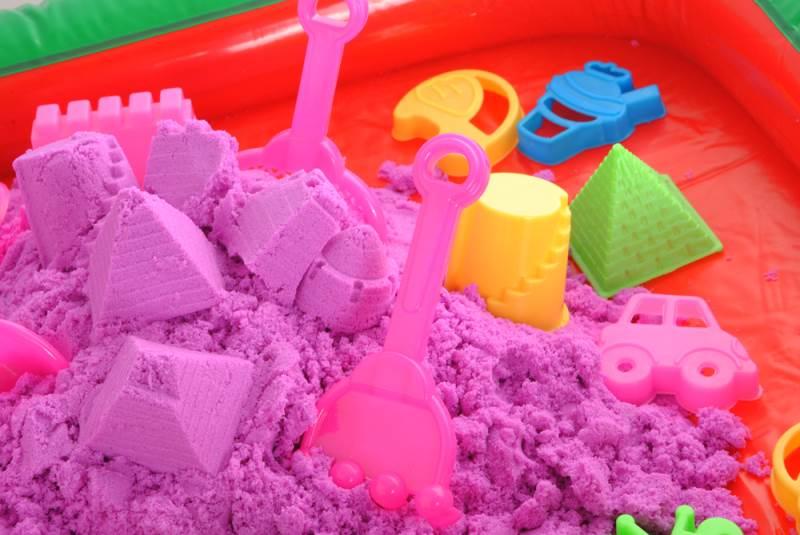 PlaySand Magický tekutý piesok 2000g + formičky + pieskovisko11