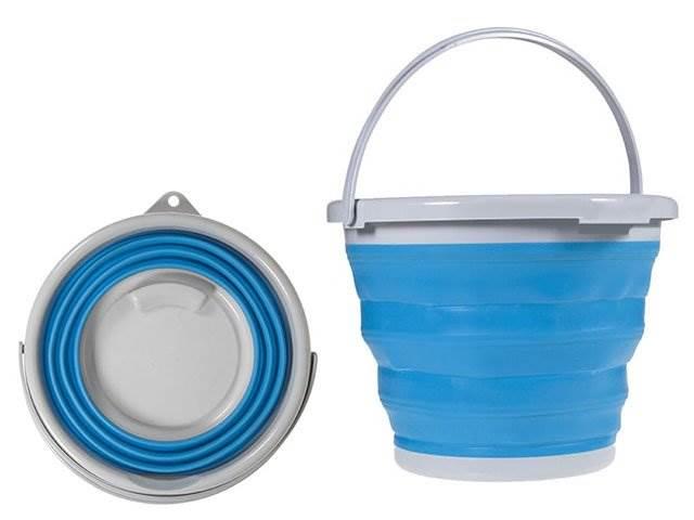 VERK 15347 Skládací silikonový kbelík s držadlem