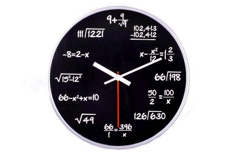GFT Matematické hodiny 30cm černé