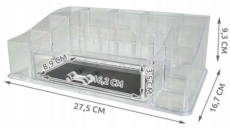 ISO 5333 Průhledný organizér na kosmetiku XL2