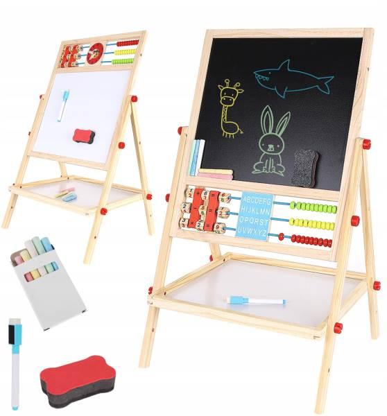 Kruzzel 9449 Multifunkčná obojstranná tabuľa pre deti 42 x 32,5 cm
