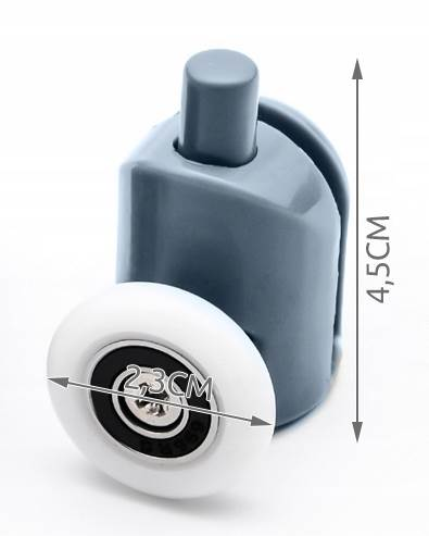 ISO 9648 Pojezdové kolečko ke sprchovým koutům spodní 1 ks2