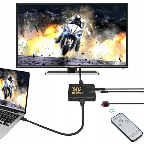 ISO 9709 HDMI 4K prepínač s diaľkovým ovládaním