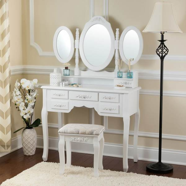 Malatec 4644 Toaletný stolík so stoličkou a zrkadlom XL7