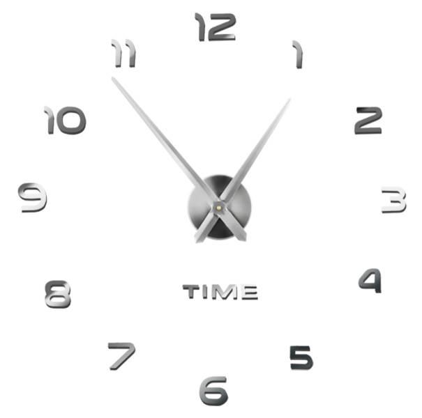 ISO 4785 Dizajnové 3D nalepovacie hodiny 130cm
