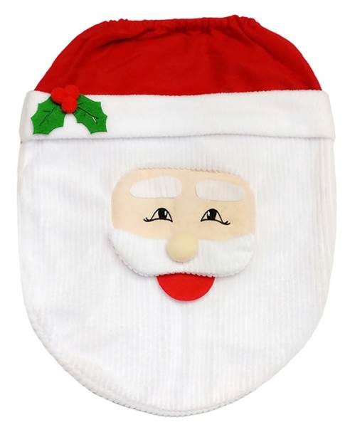 Vánoční potah na toaletu Santa Claus7