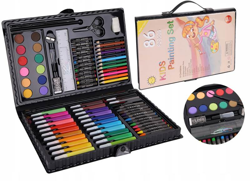 ISO 9173 Výtvarná sada Kids Painting Set 86 ks
