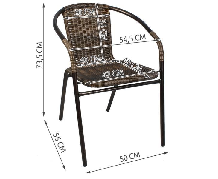 Malatec 6525 Zahradní nábytek hnědá3