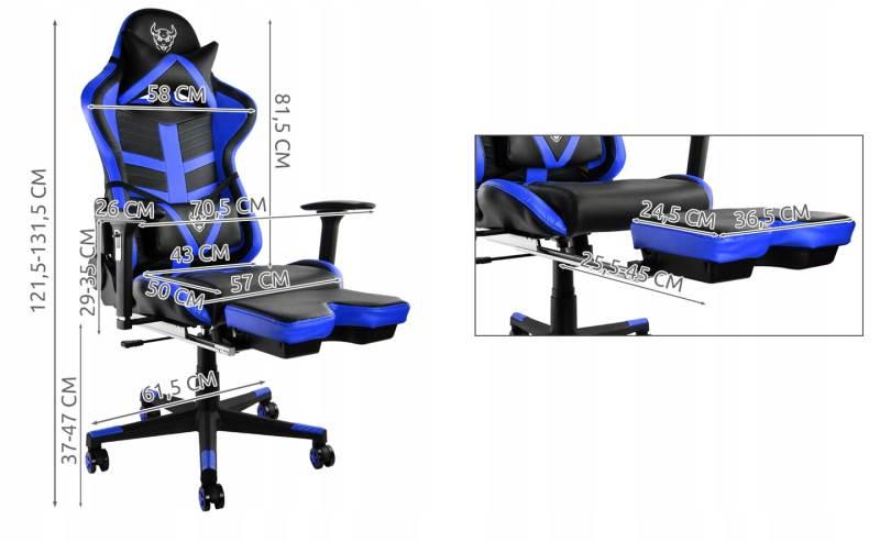 Malatec 6426 Herní židle černo modrá2