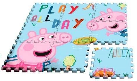 Javoli Pěnové puzzle na zem Prasátko Peppa 9 dílů