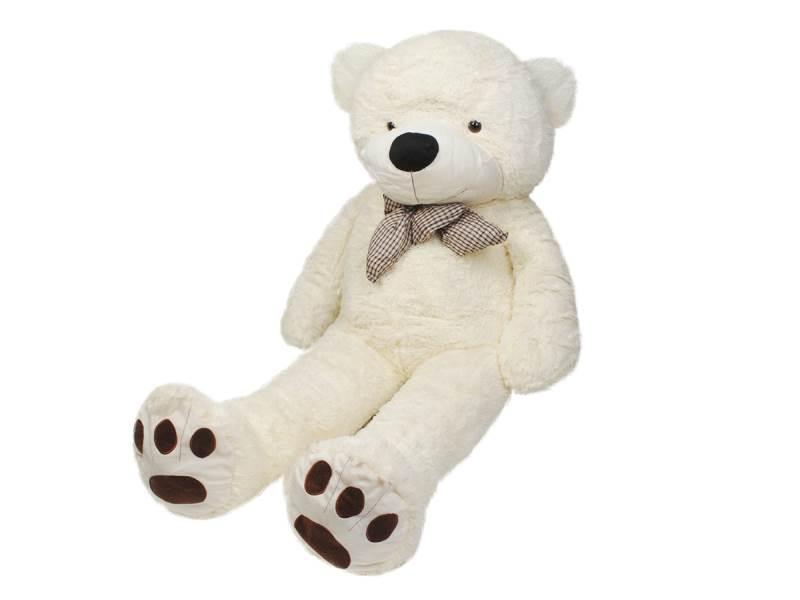 Velký plyšový medvěd bílý 160 cm7