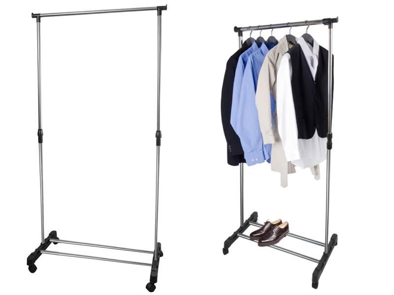 ISO 4851 Nastavitelný stojan na oděvy se 4 kolečky
