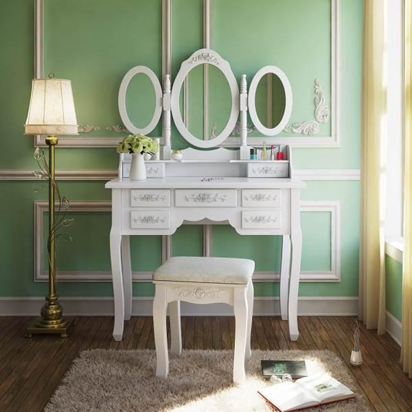 Malatec 4644 Toaletný stolík so stoličkou a zrkadlom XL6