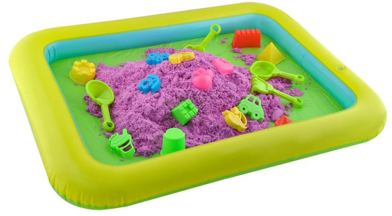 PlaySand Magický tekutý piesok 2000g + formičky + pieskovisko5
