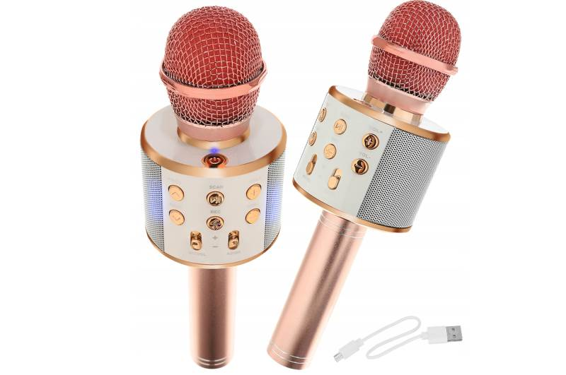 WSTER WS-858 Karaoke bluetooth mikrofón ružová