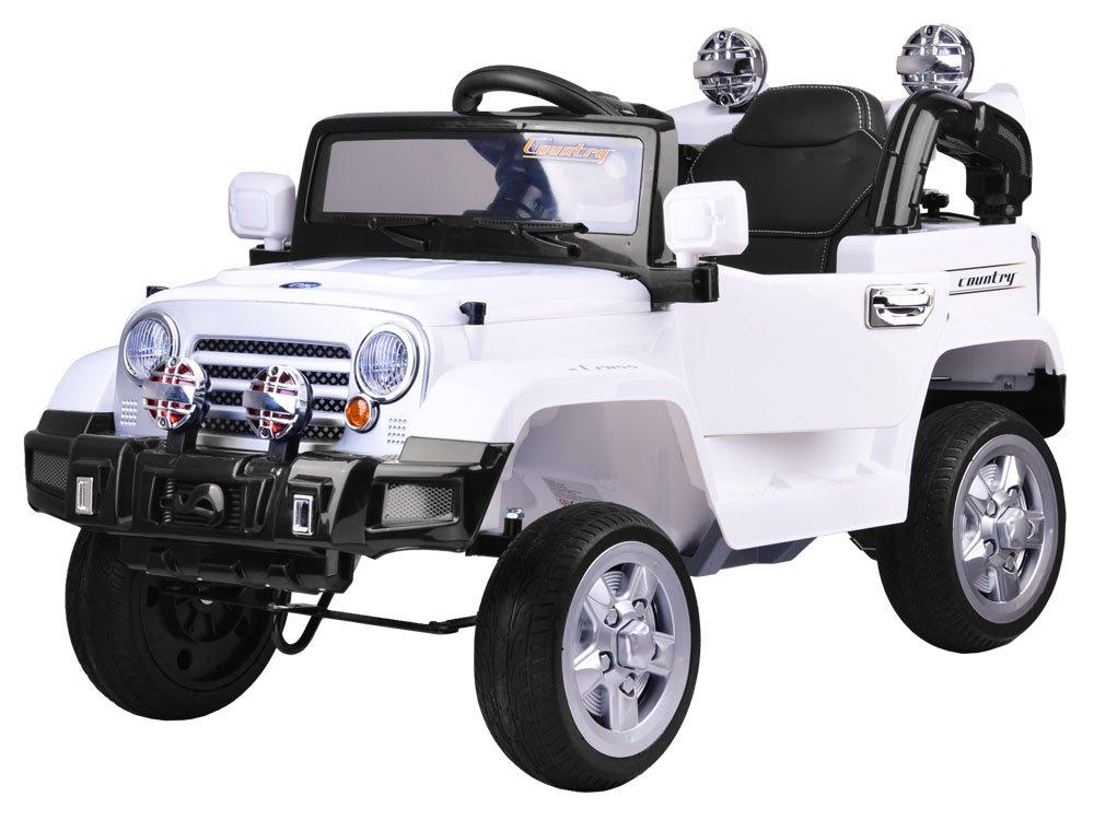 Joko PA0111 Bl Elektrické autíčko Terénní JEEP EVA bílé