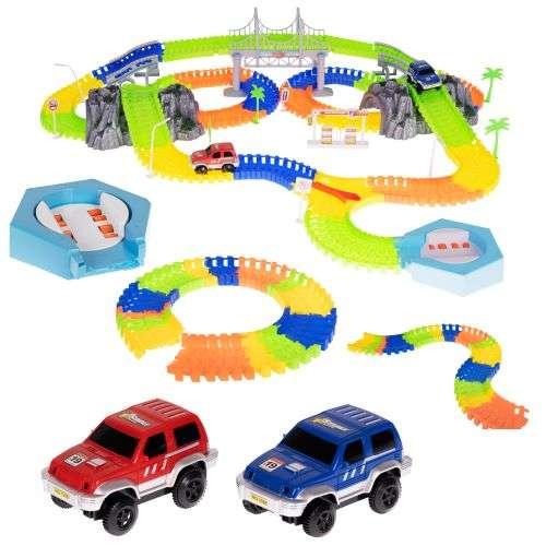ISO 11486 Svietiace autodráha 293 dielov + 2 autá
