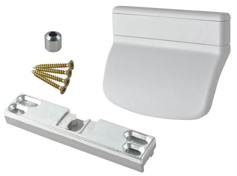 ISO 6464 Balkónové madlo so západkou biele