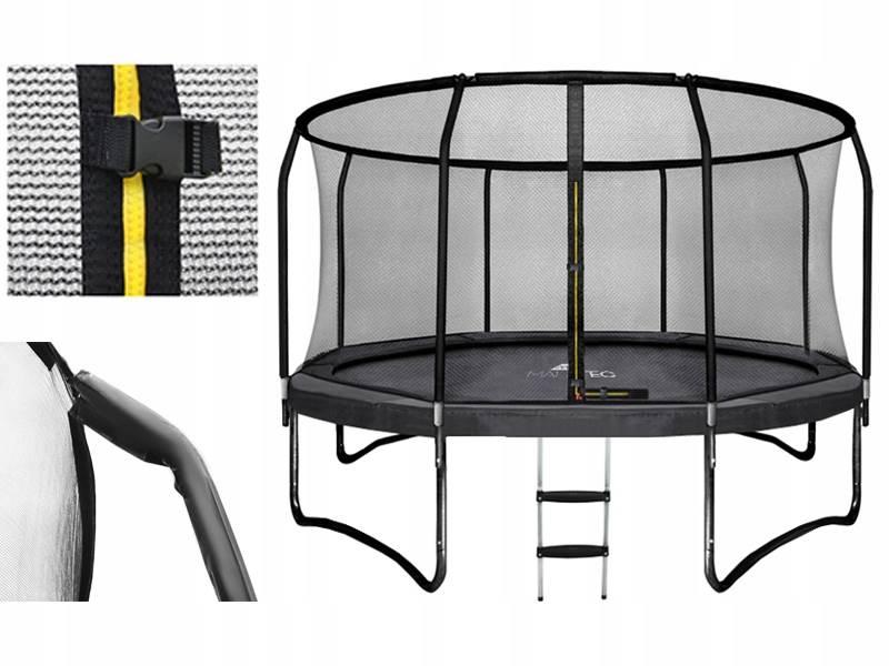 Malatec 7509 Trampolína HQ 366 cm + vnitřní ochranná síť + žebřík