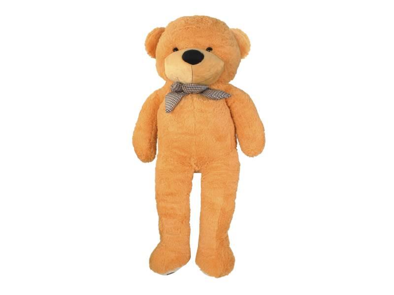 Velký plyšový medvěd světle hnědý 100 cm