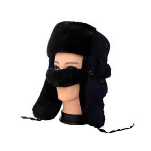 APT Beranice s kožíškem a krytem na nos černá