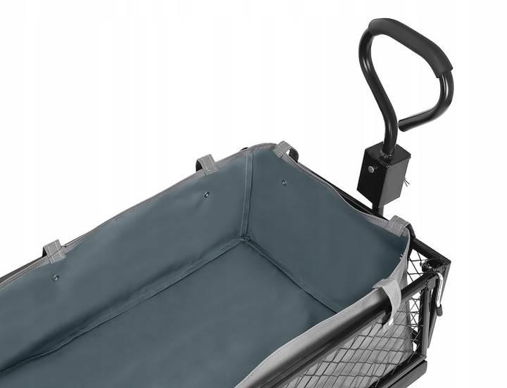 Malatec 9032 Záhradný vozík s výklopnými bokmi nosnosť 350 Kg6