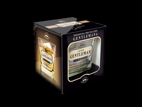 Nekupto Whisky sklenička -  Jsem GENTLEMAN, protože svět je plný obyčejných chlapů.